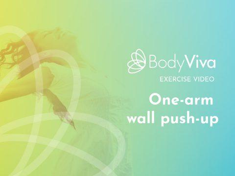 one arm wall push up BodyViva