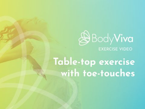 Table top exercise with toe-touches pilates BodyViva