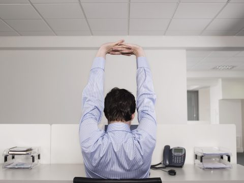back stretches, office exercises