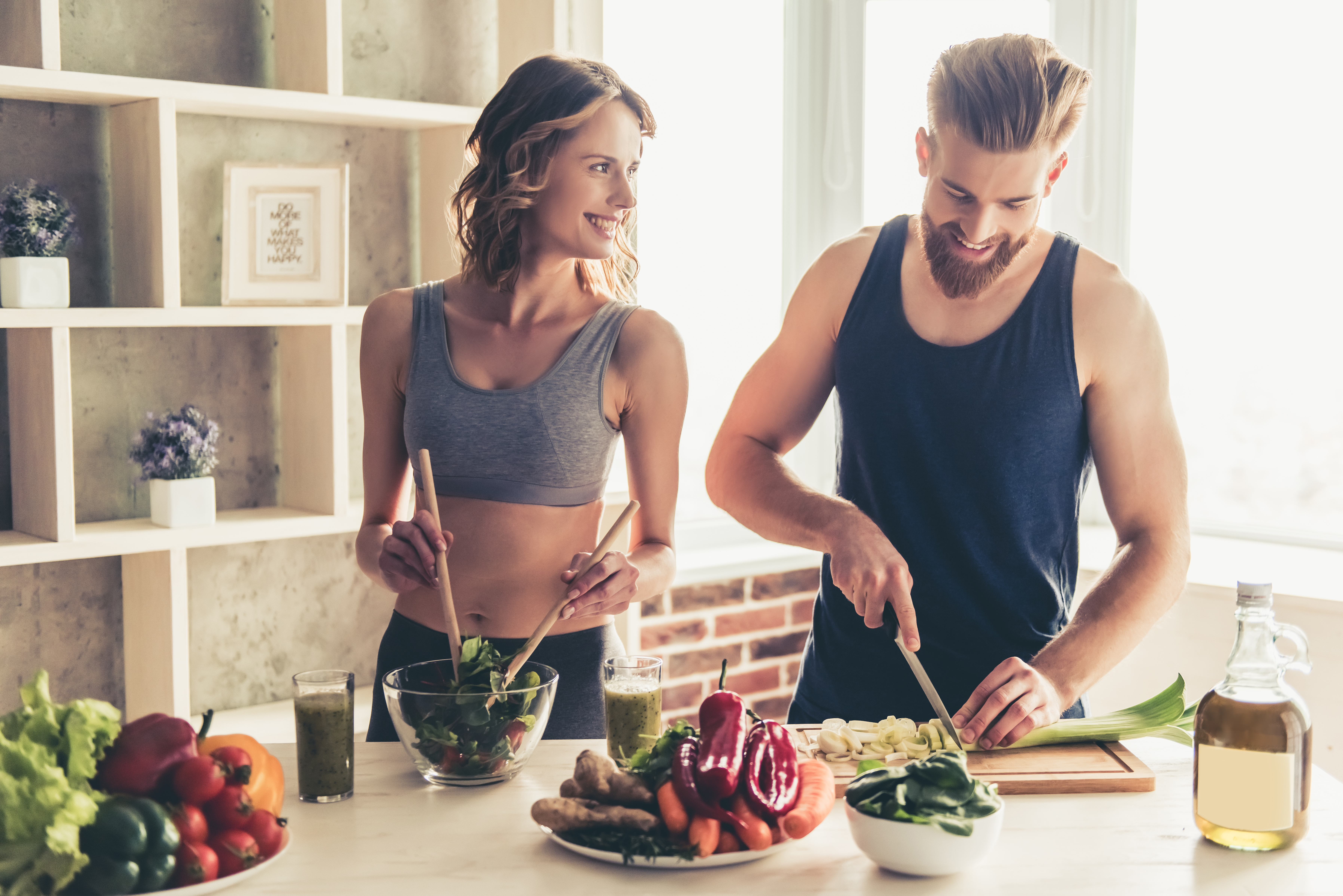 couple cooking healthy meal together BodyViva Ways To Speed Up Recovery Outside Of The Clinic