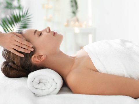 Woman getting head massage BodyViva