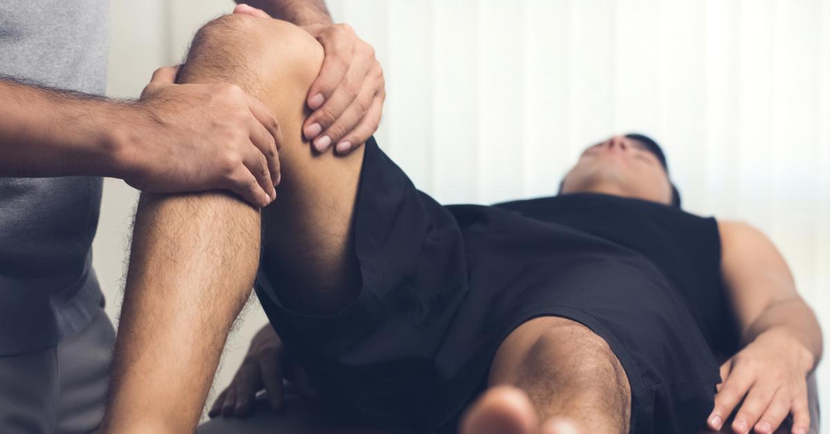 Man Getting Knee Massage BodyViva Why you should get regular massages