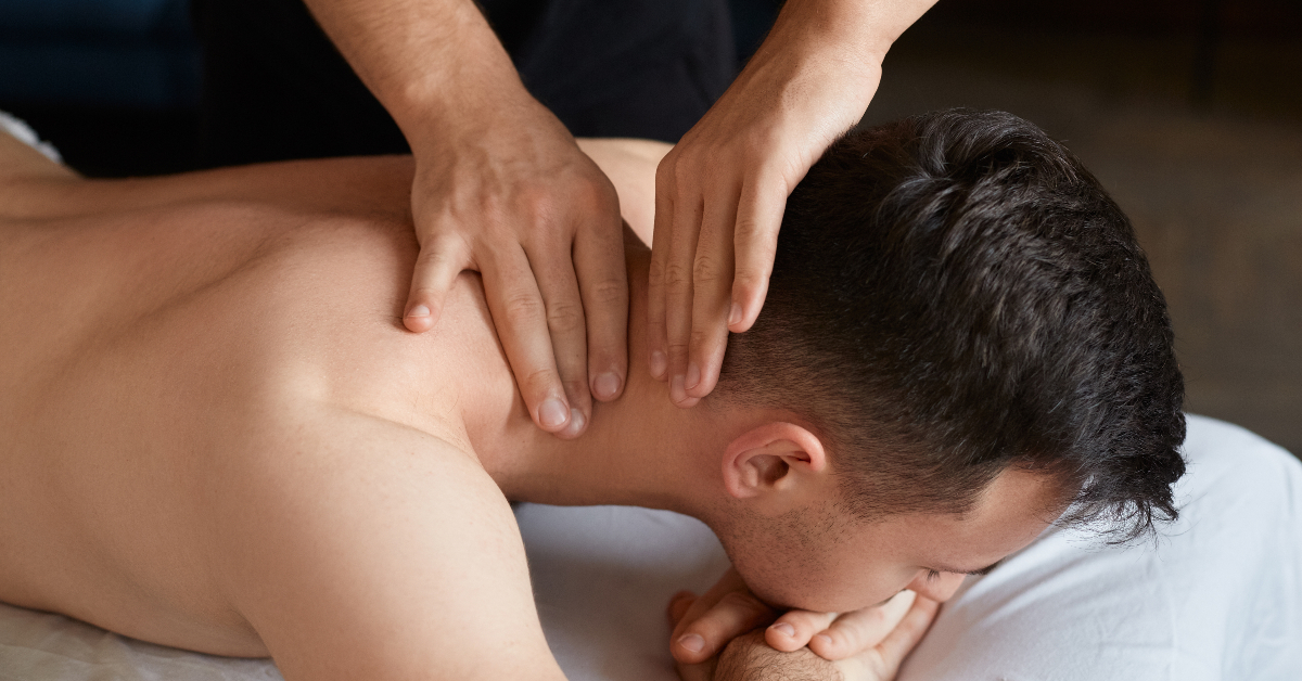 """alt=""""young adult getting a remedial massage"""""""